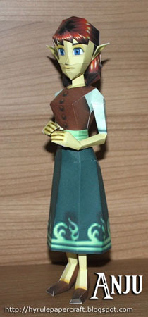 Legend of Zelda Papercraft Anju