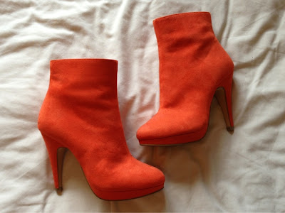 Sammi Jackson - Orange H&M Boots