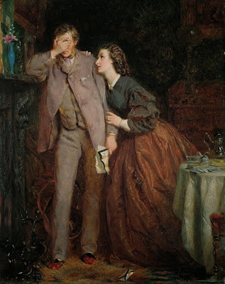 George Elgar Hicks - Woman's Mission, Companion of Manhood