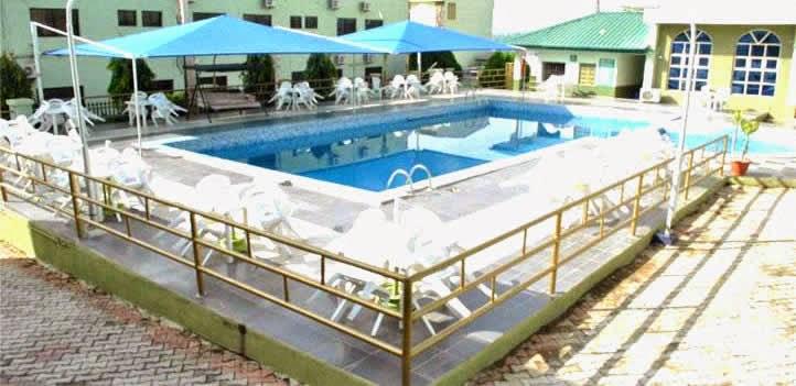 Leisure Spring Hotel, Osogbo swimming pool area