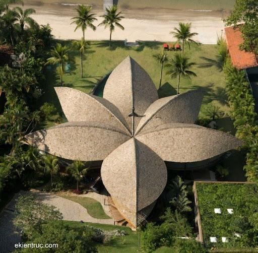 Leaf House 02 750x735 Kiến trúc nhà lá thú vị tại Brazil