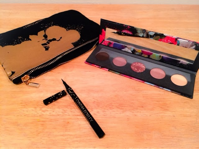 Cynthia Rowley Beauty Collection Eyeshadow Palette Liquid Eyeliner Makeup Bag - Trinawears NYC Beauty Fashion Blog