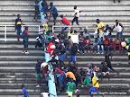 La bagarre des supporteurs pendant le match le 28/04/2013 au stade des Martyrs à Kinshasa. Radio Okapi/Ph. John Bompengo