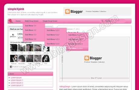 Feminine Blogger Template