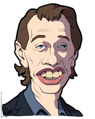 Cartoon caricature of Steve Buscemi