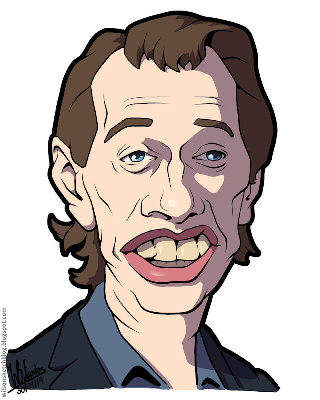 Cartoon caricature of Steve Buscemi.