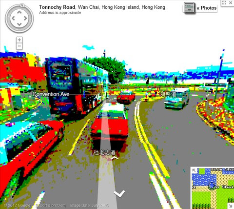 Street View on Google Maps 8 bit version
