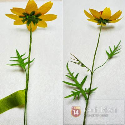 hoa+giay+8 Cách làm hoa trang trí đơn giản từ giấy