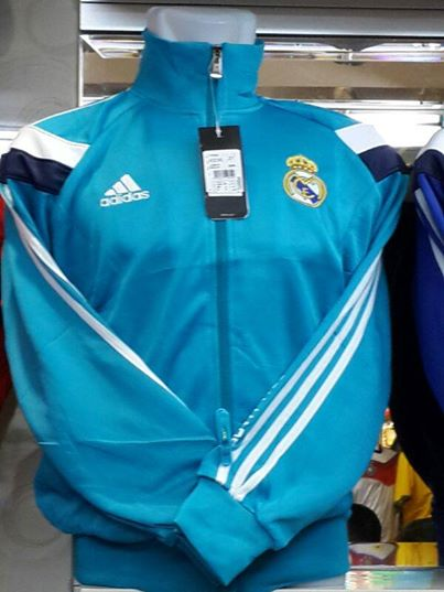 Jual Jaket Real Madrid Biru Track Top 2014
