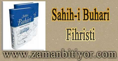 Sahihi Buhari Fihristi Türkçe İndir