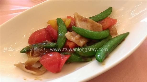 ミル貝と野菜の炒め物