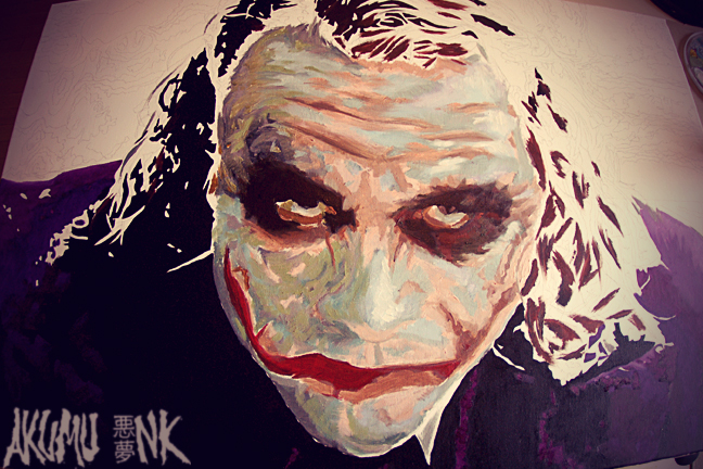 joker canvas, joker painting, joker art, joker fanart, joker commission, joker freelance, joker sketch, joker artist, montreal joker