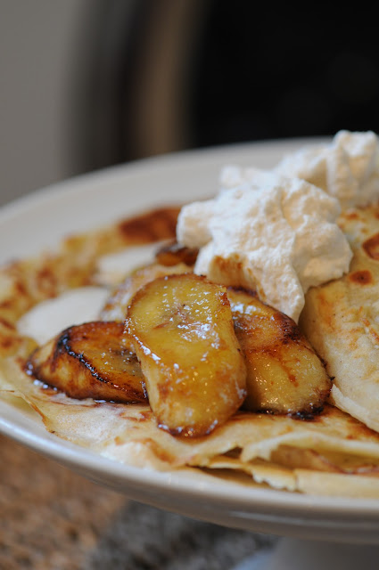 Warm Banana and Maple Syrup Pancakes with Cinnamon Cream - Ren Behan ...