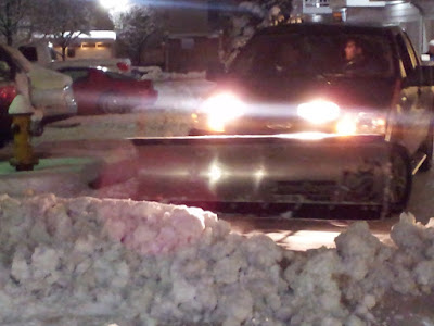 Night Snow Plow