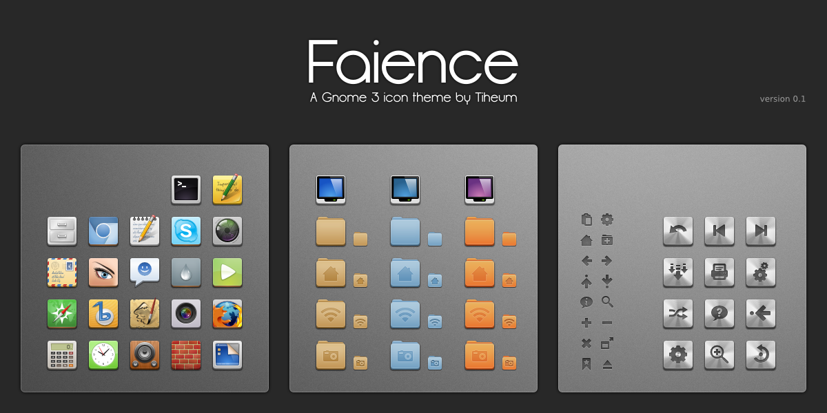 Faience: New GNOME 3 Icon Theme By Tiheum ~ Web Upd8: Ubuntu / Linux