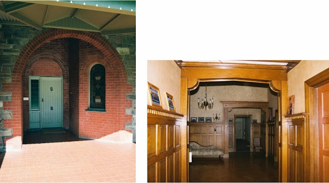 Karrawood, front entrance and vestibule