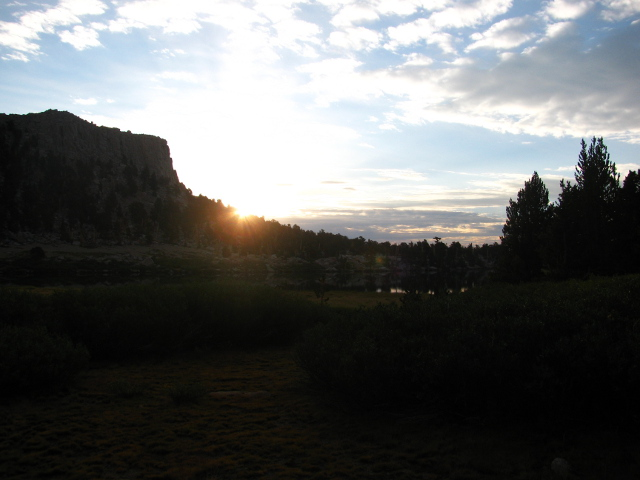 sunrise over Long Lake