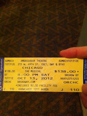 CHICAGOの半券
