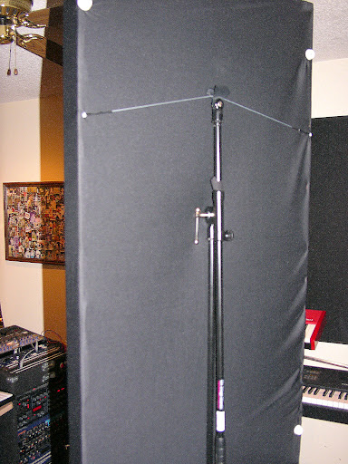 Vocal Booth And A Wall Panel In The Background