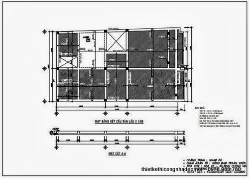 Bản vẽ mặt bằng kết cấu sàn lầu