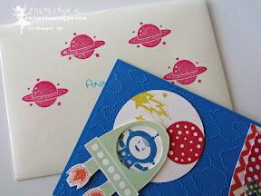 stampin up blast off kleine astronauten kindergeburtstag einladung