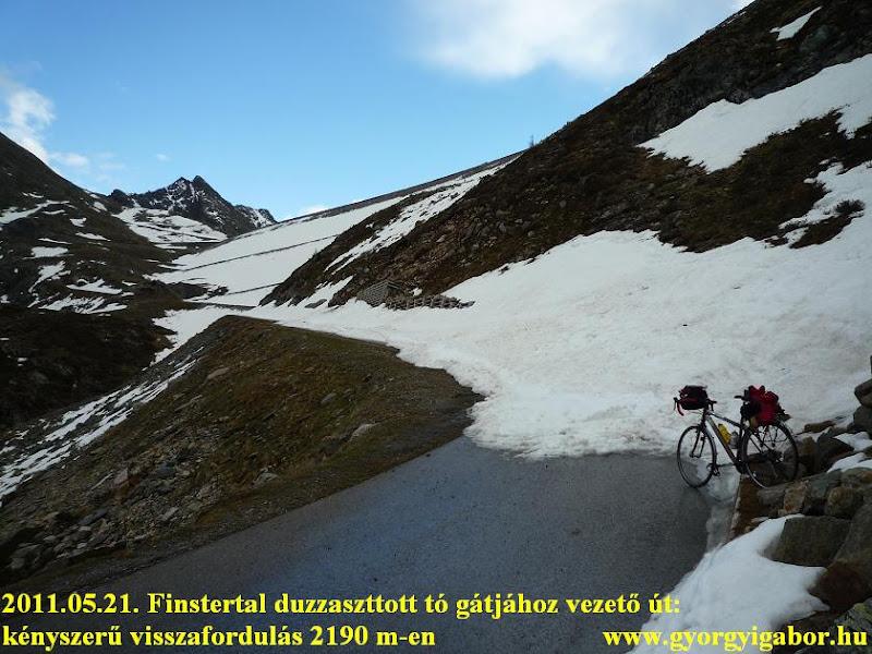 """Diga Finstertal: hó zárta út (2190 m)"""" title="""