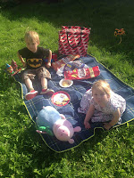 Blake  and Maegan picnic