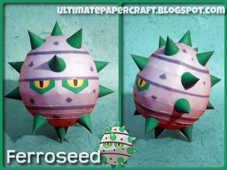 Pokemon Ferroseed Papercraft