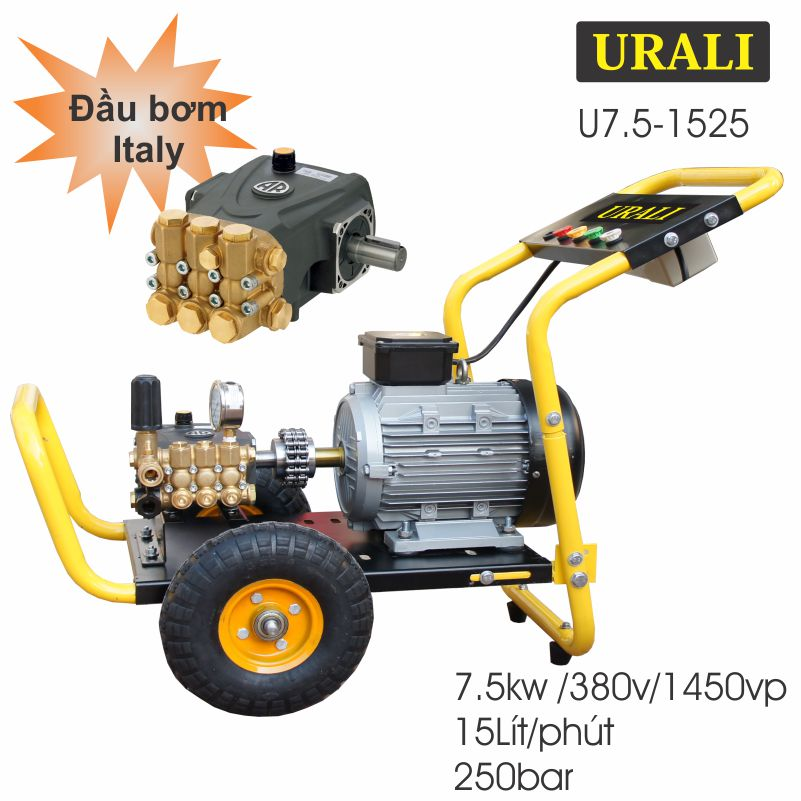 Máy rửa xe cao áp URALI 7.5kw U7.5-1525