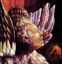 grünewald, gruenewald, concert, angels, 1515, dark, angel, wings, face