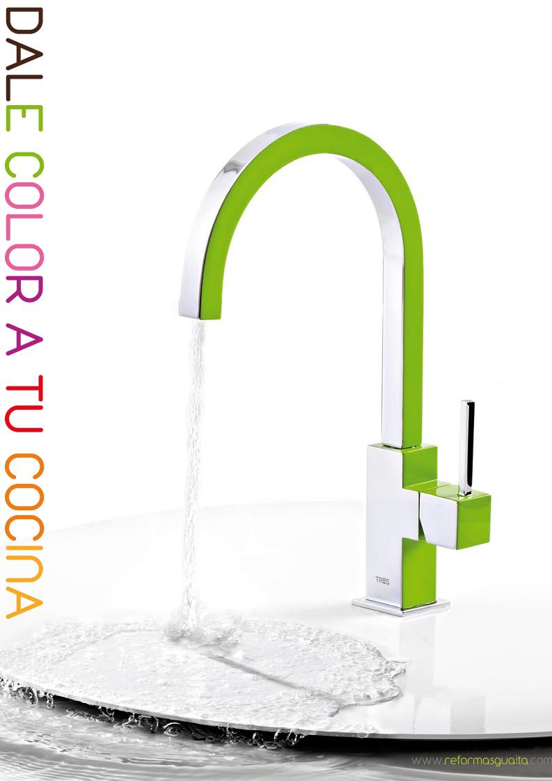 Dale color a tu cocina con grifos de colores reformas guaita - Grifos de cocina de pared ...