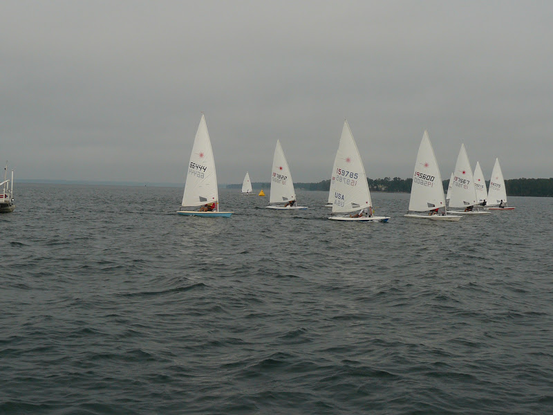 first race start tacked out to the right