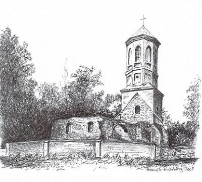 Ruiny kościoła św. Michała w Górzynie