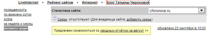 Ливинтернет Экспресс-аудит
