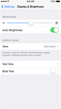 Adjust iPhone 6 Screen Brightness and Auto-Brightness Settings
