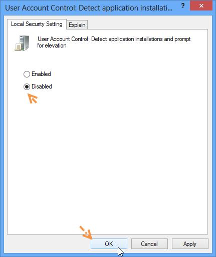 ปิดการทำงานของ Destination Folder Access Denide W8disacc06