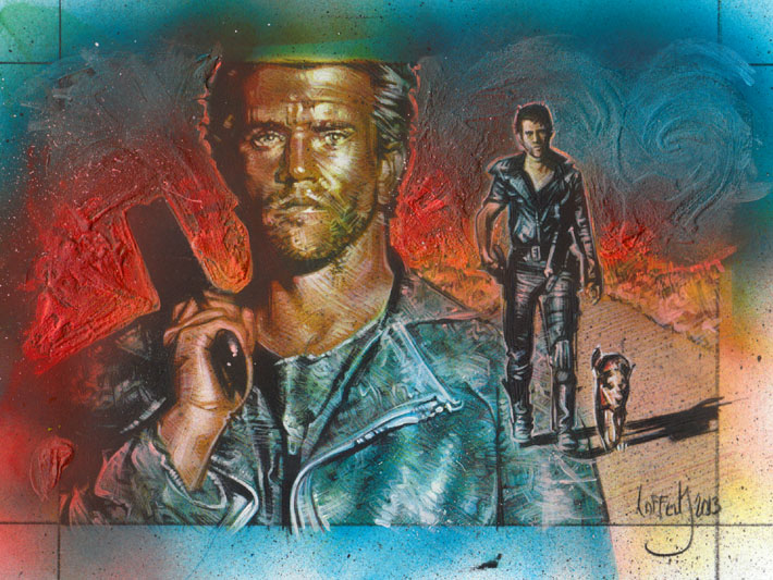 Mad Max, Mel Gibson, Original Sketch Card © 2013 Jeff Lafferty