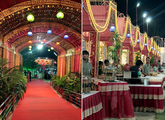 A Rajasthani wedding cremony and food