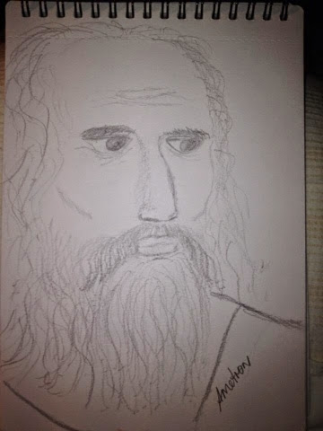 my intuitive drawing of Plato