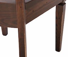 Corsica Dining Chair in Weathered/Distressed Twilight Oak, Base Closeup