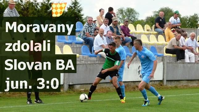 Moravany zdolali Slovan BA jun. 3:0