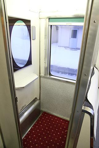 JR寝台特急「日本海」 4001レ A寝台 更衣室