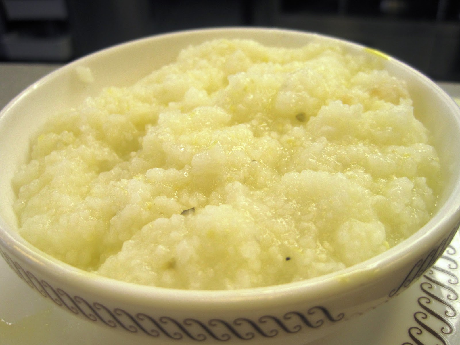 my bowl of grits, i prefer them w/cheese or sweet but i didn't have ...
