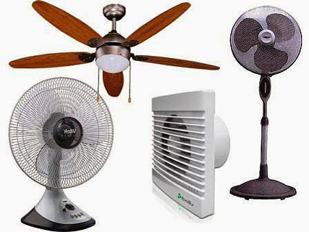 Бытовые вентиляторы - разновидности