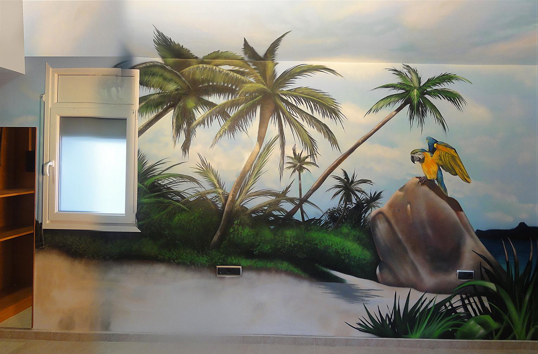 Berok graffiti mural profesional en barcelona mural - Reloj pintado en la pared ...