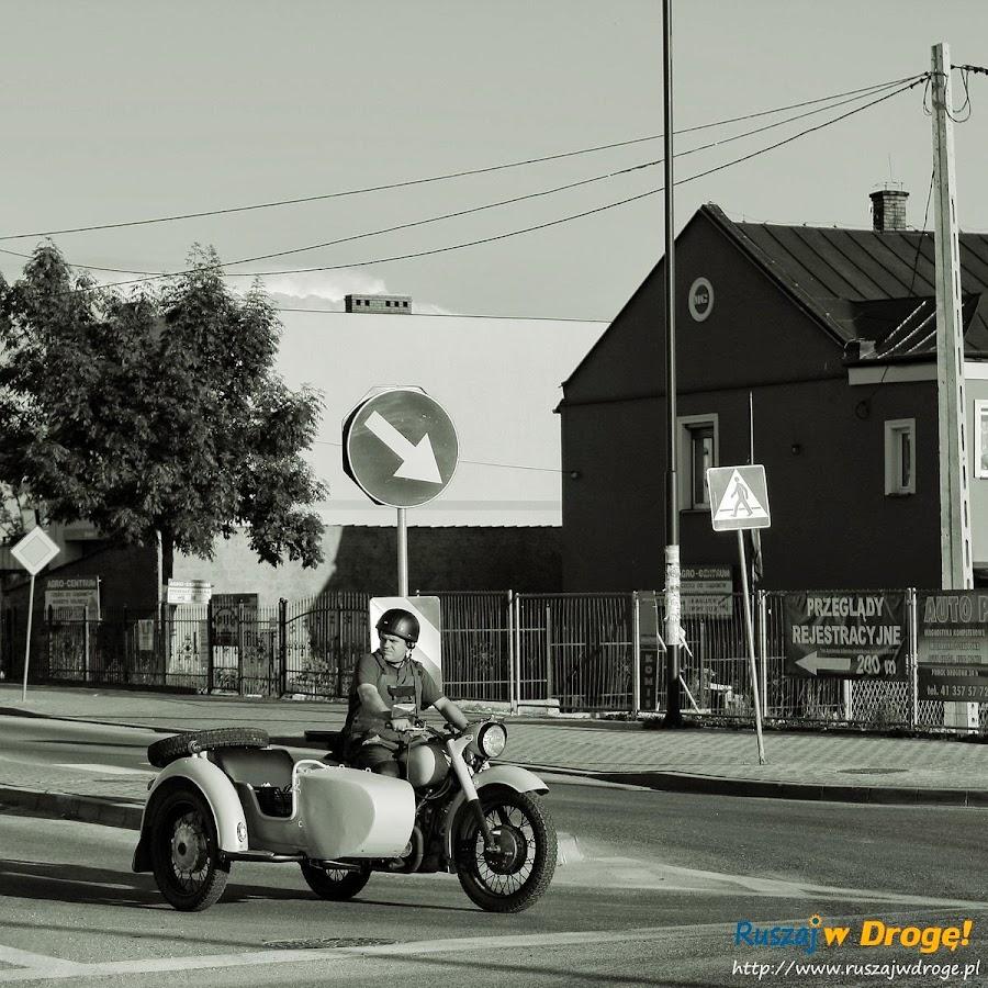 Pińczów nad Nidą - motocyklista