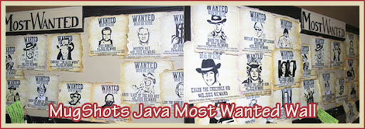 mugshots java coffee house most wanted wall in prattville, alabama