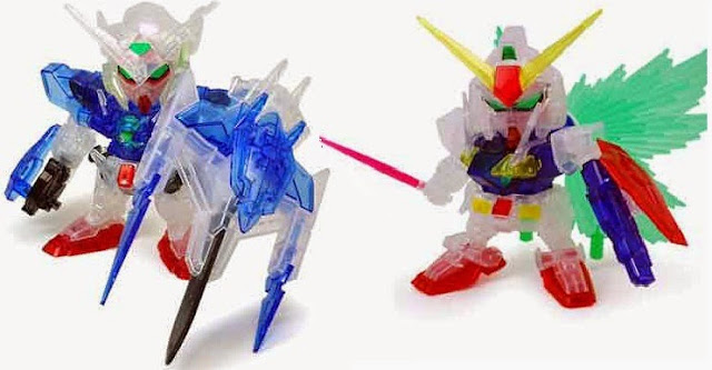Gundam Exia Repair II & O Gundam (clear color version) ngộ nghĩnh