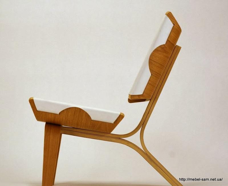 Фанерное кресло - вид сбоку