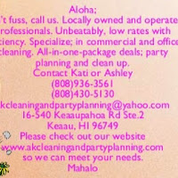 who is akcleaning partyplanning contact information